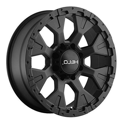he878 wheel with satin black finish 18x9
