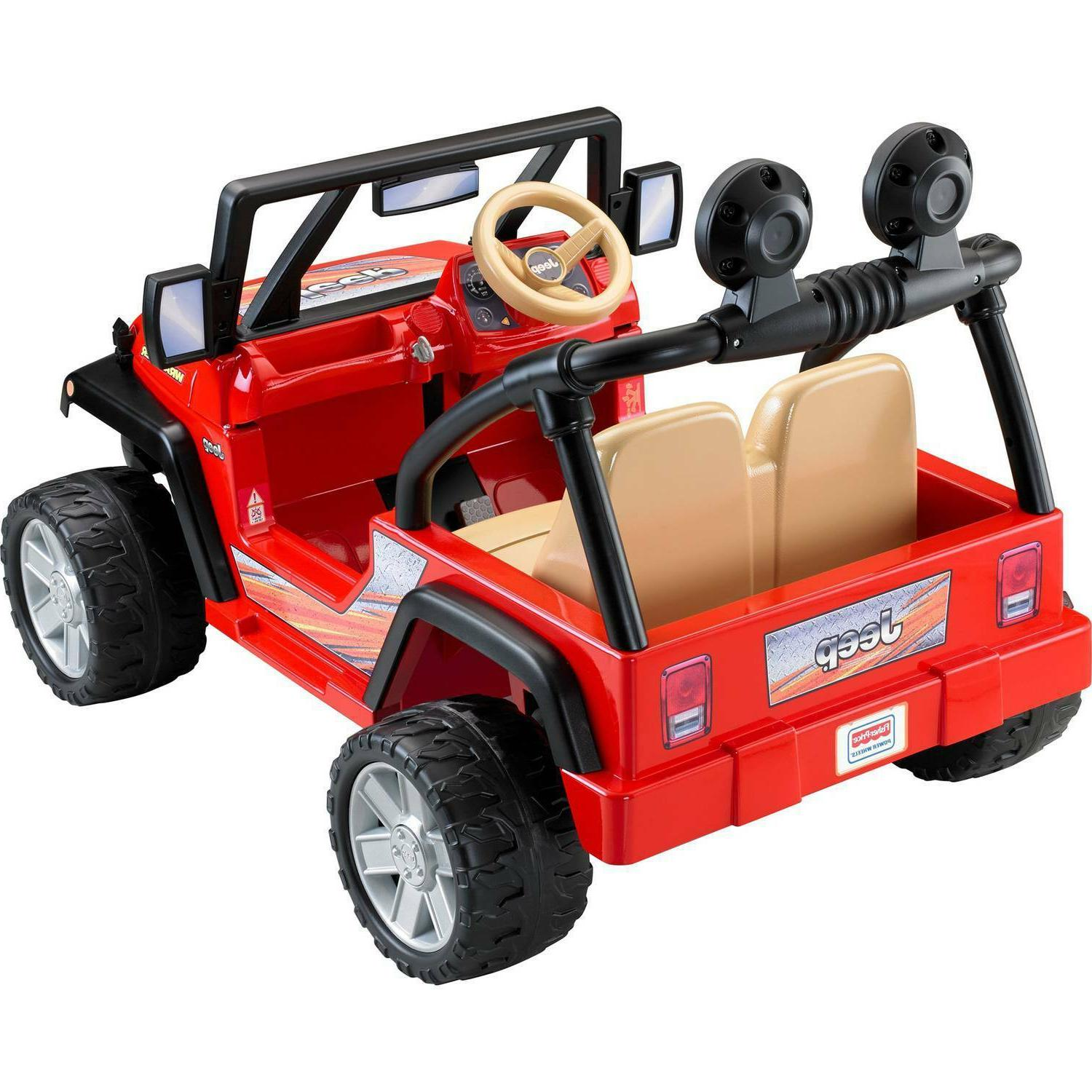 Power Wheels Jeep 12-Volt Battery-Powered Ride-On, Red