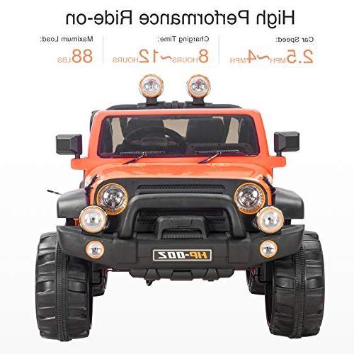 Uenjoy 12V Motorized for Speeds, Head Lights, Model HP-002, Orange