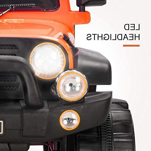 Uenjoy Cars 12V Motorized for Kids with Remote Speeds, Head Model HP-002, Orange