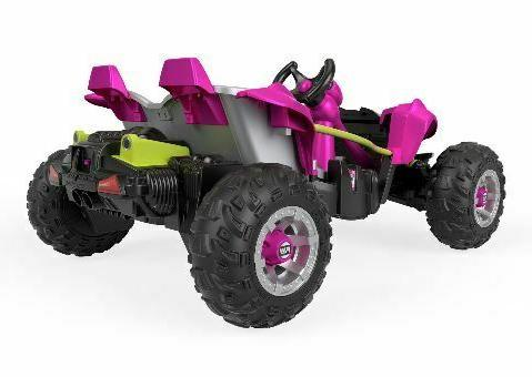 Kids Power Wheels On Dune Pink And Black