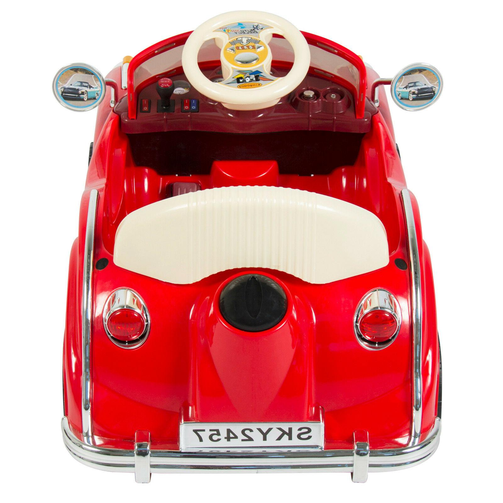 Kids Electric Red RC Classic Car With Remote Control Battery