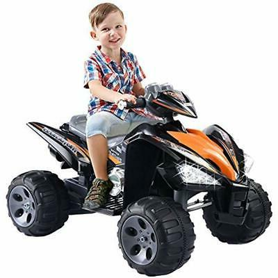 Kids Quad Toy Car Power Black