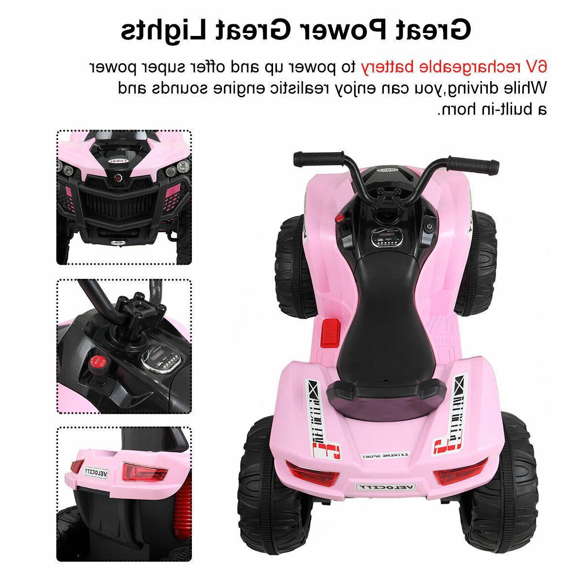 Kids Car 6V Wheels 2 Speed LED Light