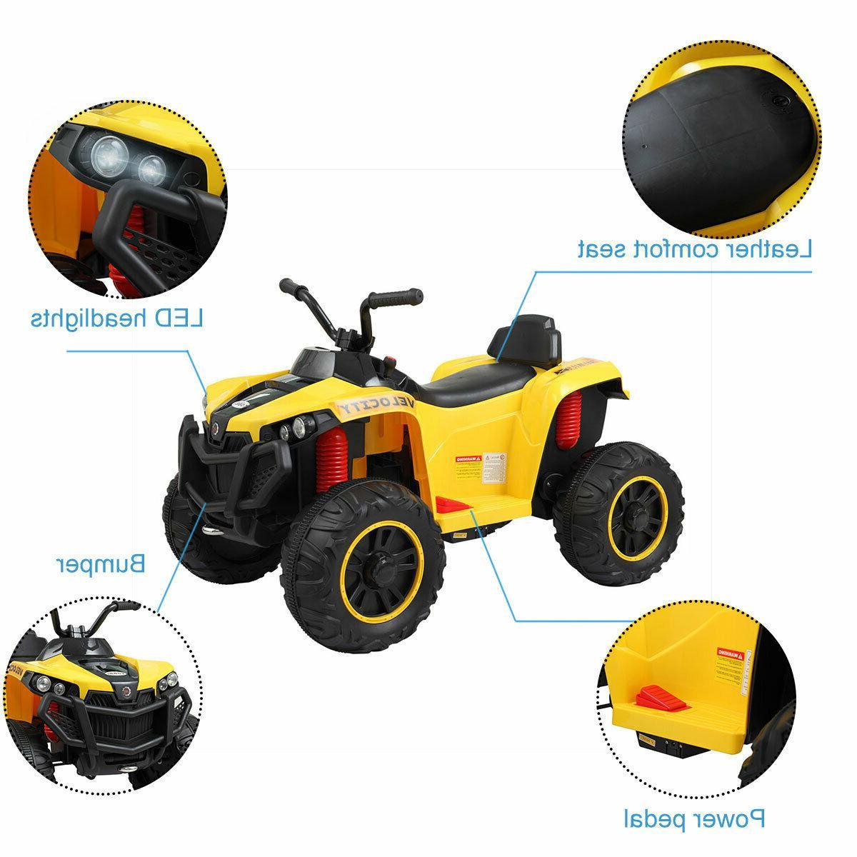Kids Ride Car 6V Electric Wheels Remote Control LED Light Toy