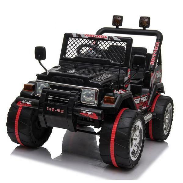Kids Jeep 12V Remote MP3 Light Toy Black
