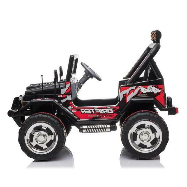 Kids On Jeep Electric Wheels Remote Light Toy