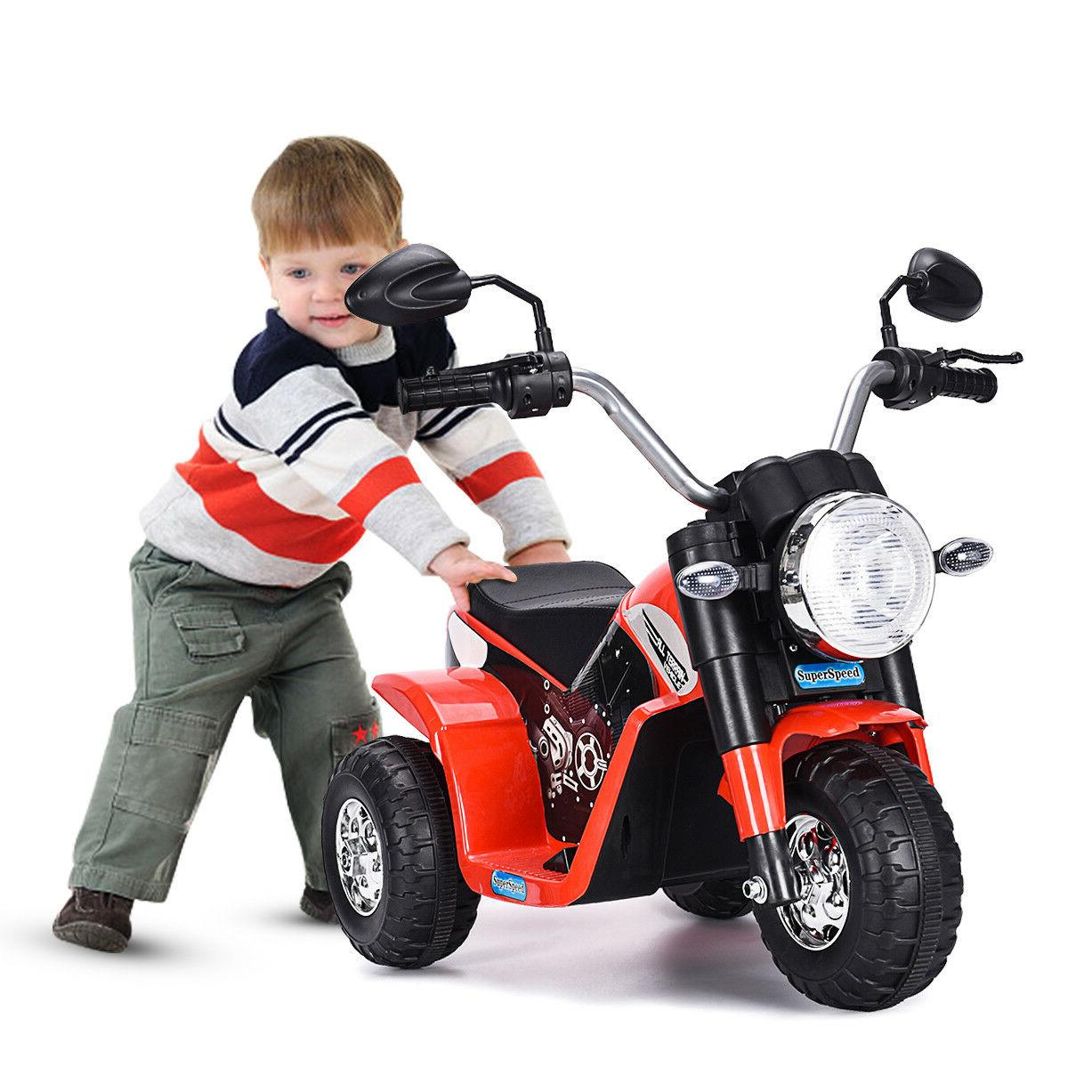 Electric Motorcycle Kids On 6V Powered 3 Wheel Gift