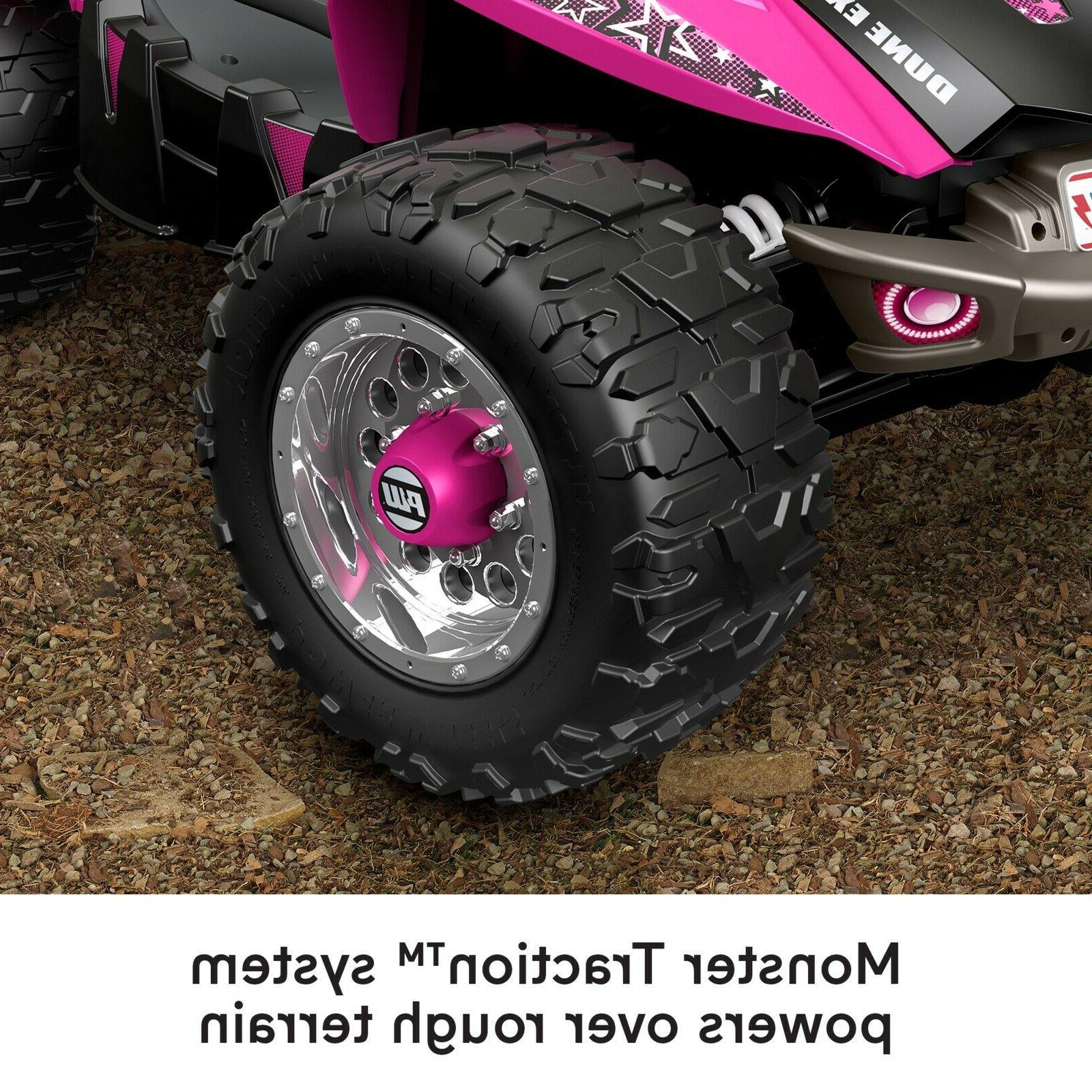 Power Racer Pink Electric Vehicle Car Quad Ride On