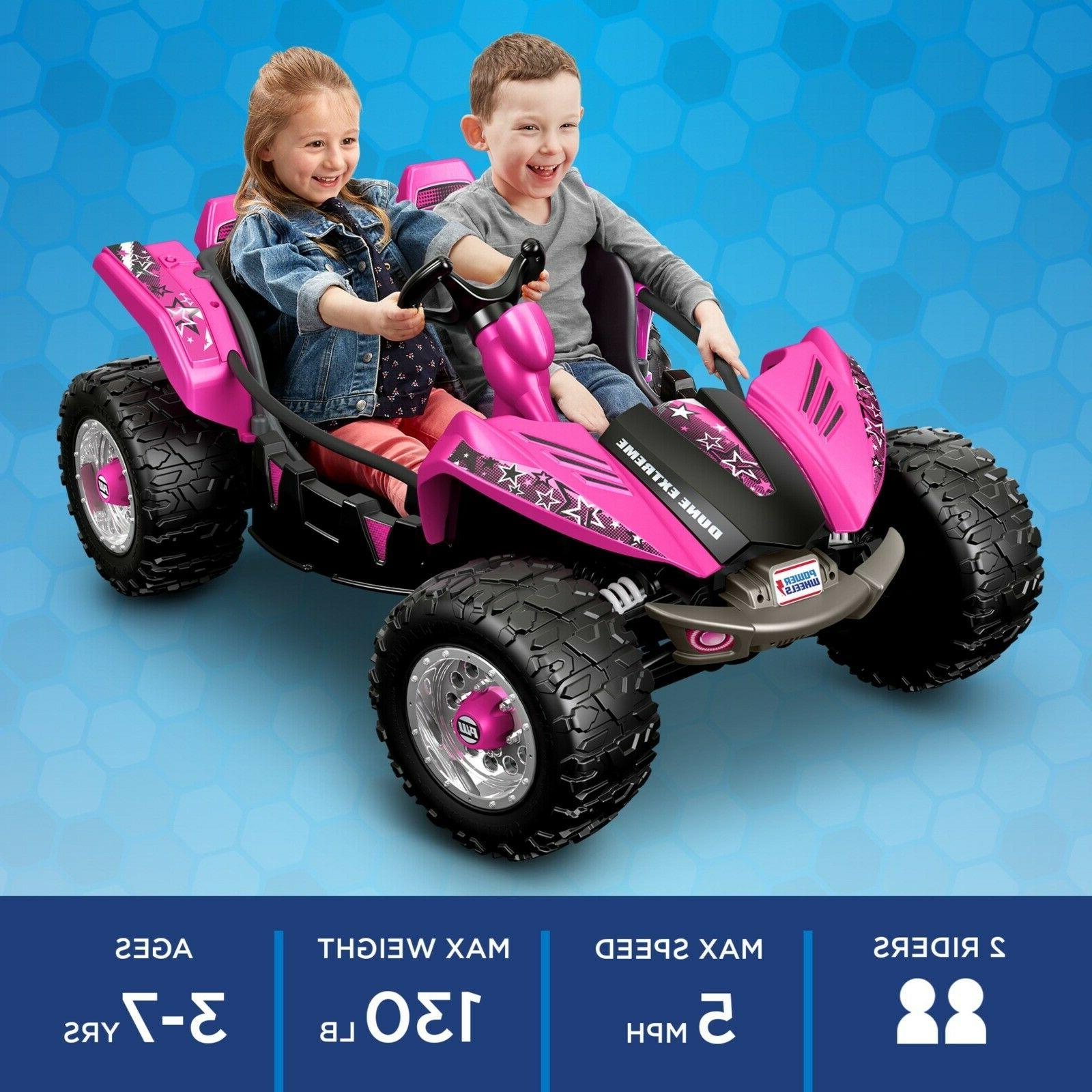 Power Wheels Pink Battery Electric Car Kids On Toy