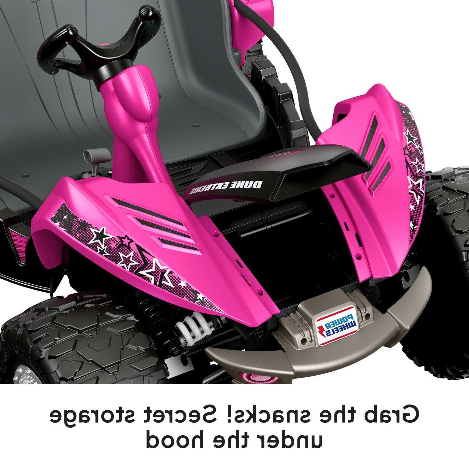 Power Pink Battery Car On