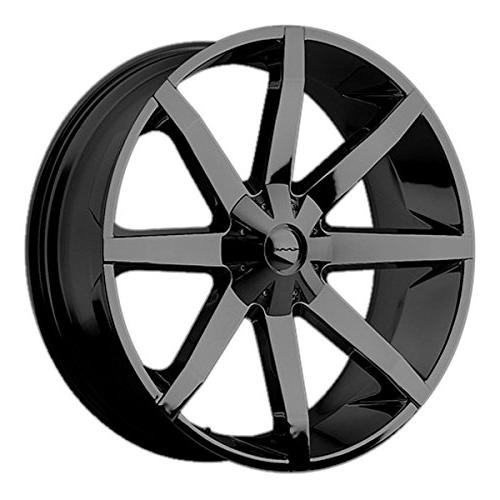 km651 slide gloss black wheel with clearcoat
