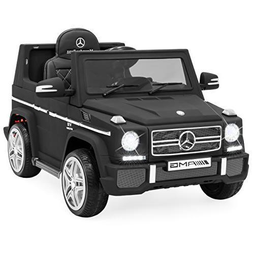 Best Kids Battery Licensed Mercedes-Benz RC Ride-On w/ Control, Lights, AUX, 2 - Black