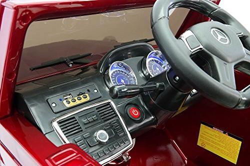 Moderno Kids Children Car R/C Parental 12V Foam + Soft PU Seat + Belt + Player