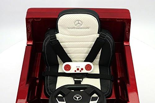 Moderno Mercedes G65 Children with R/C 12V Battery Foam Soft Leather + Point Seat Belt + Player