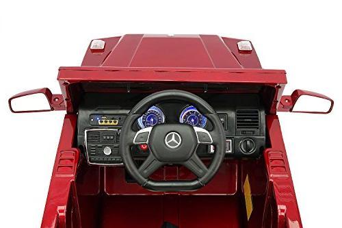 Moderno Kids Children Car with R/C Parental 12V Battery Power Foam Rubber Soft PU + Belt + MP3 Music Player