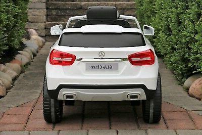 Mercedes-Benz GLA White Dual Motor 12V Ride-On Control