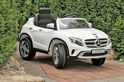 Mercedes-Benz GLA White Licensed Dual Motor 12V Kids Ride-On