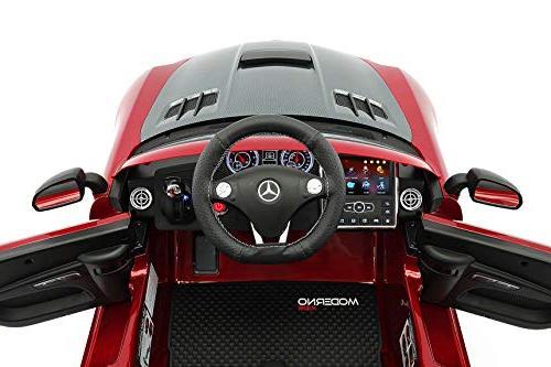 Mercedes SLS Children Ride-On Car R/C Parental Remote Battery Power LED Lights 5 Point Seat Player Rubber Mat
