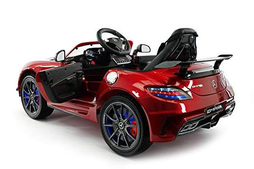 Mercedes Edition Children Ride-On R/C Remote Battery Power LED Wheels Lights + 5 Point Seat Belt MP4 LCD Player + Floor Mat