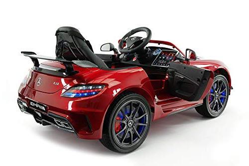 Mercedes Final Children Car R/C Battery Lights Seat Belt LCD Music Player + Mat