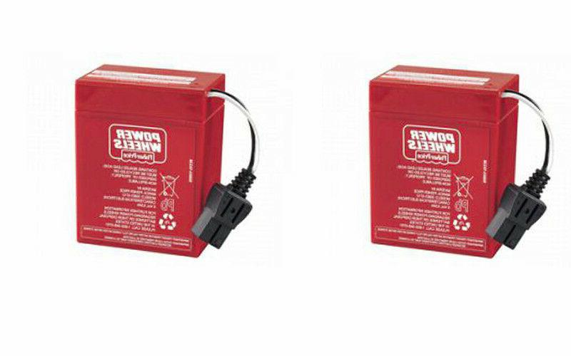 new 6 volt red battery 2 batteries