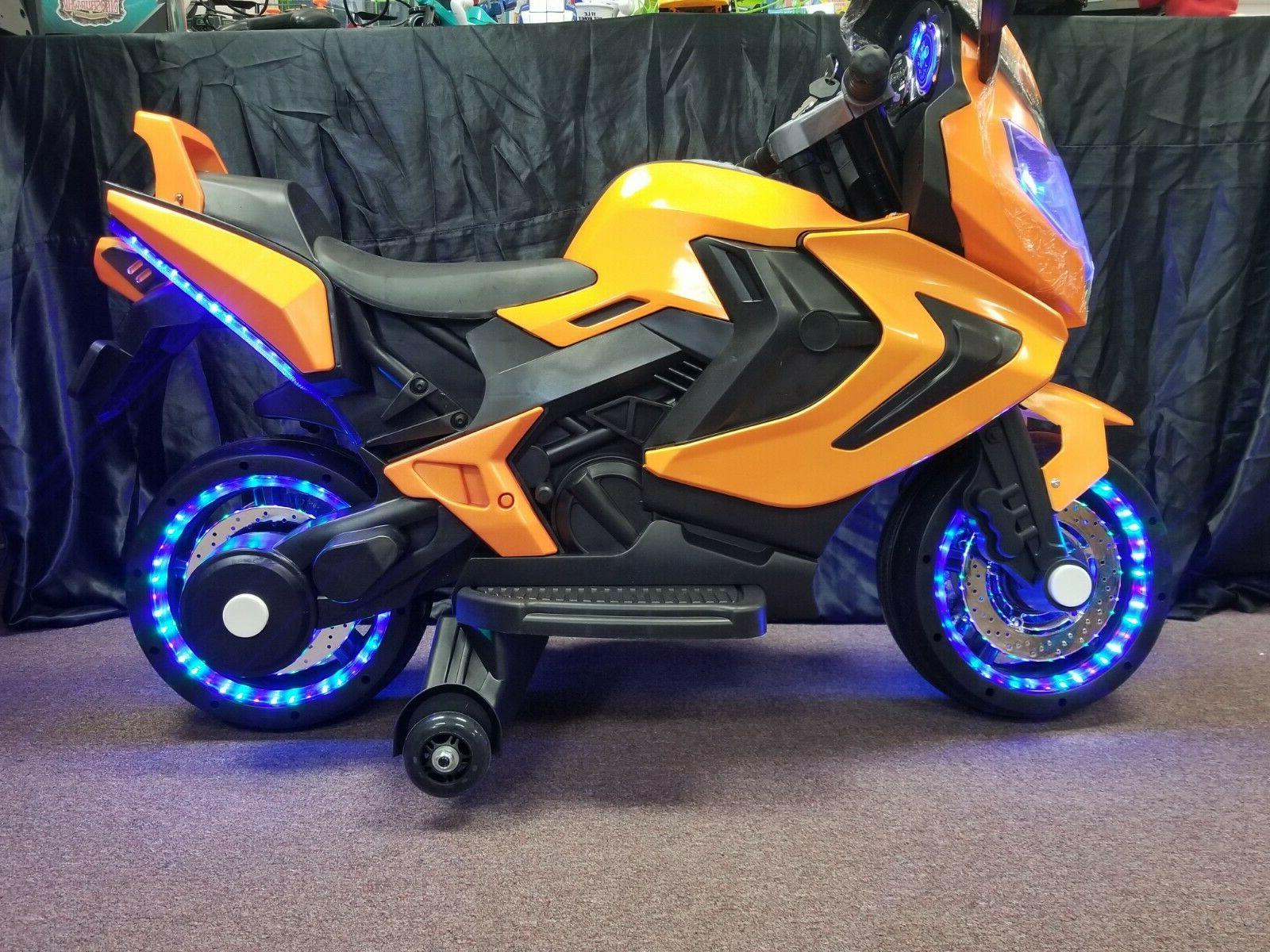 new led 12v motorcycle kids ride on