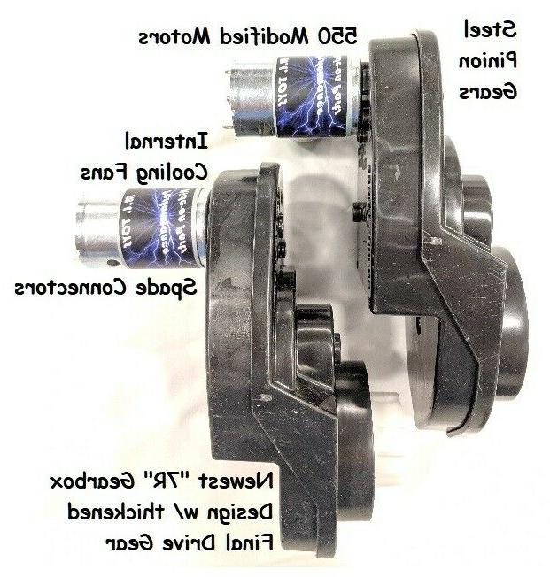 pair of power wheels gearboxes and motors