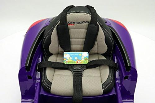 2018 PORSHE BOKSTER STYLE 12V ELECTRIC CAR R/C PARENTAL LED WHEELS, REMOVABLE BABY TRAY TABLE, 5 POINT SAFETY HARNESS | PURPLE