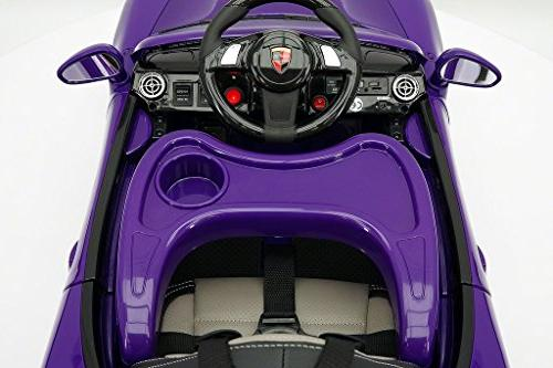 2018 PORSHE BOKSTER STYLE 12V KIDS CAR WITH R/C 5 POINT SAFETY HARNESS | PURPLE