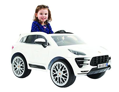 Rollplay Macan Ride Toy, Battery-Powered On Car