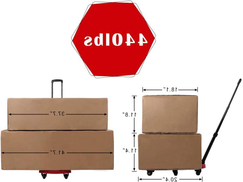 Aodailihb Folding Cart Rotate Load 440 Pounds