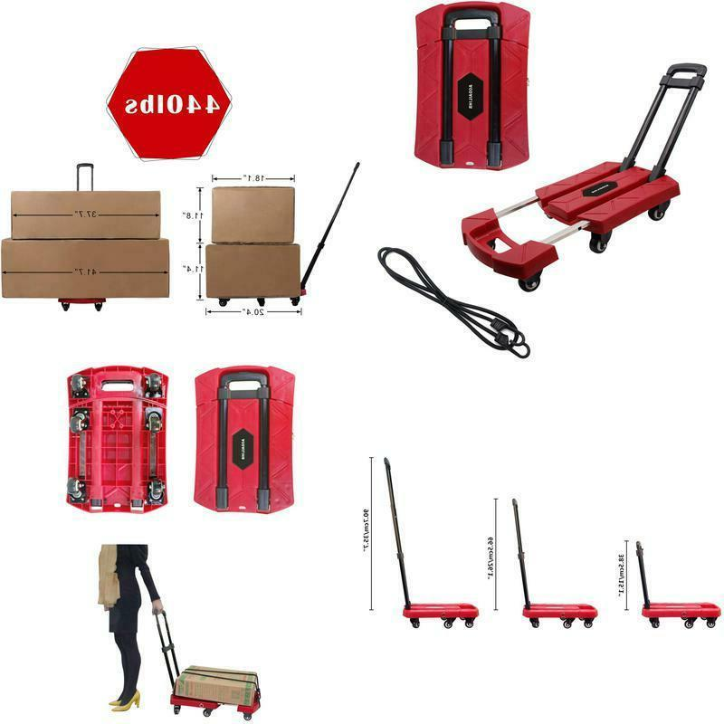portable folding luggage cart 360 rotate wheels