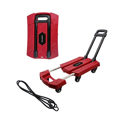 portable folding luggage cart rotate
