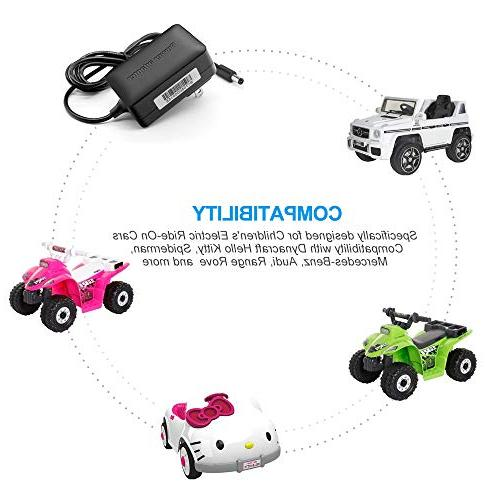 IBERLS Electric Ride-On Toys for Kitty, Spiderman, Mercedes-Benz, Range Rove Kids Car Power Supply
