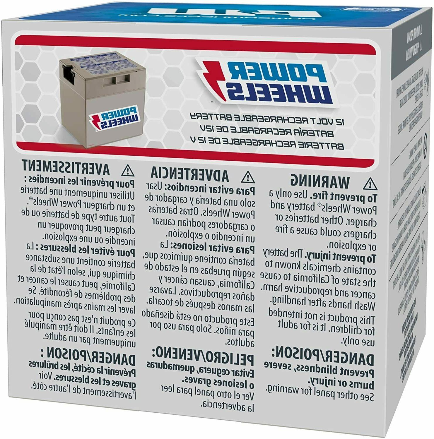 Power Wheels 12-Volt Replacement Battery - FREE SHIPPING