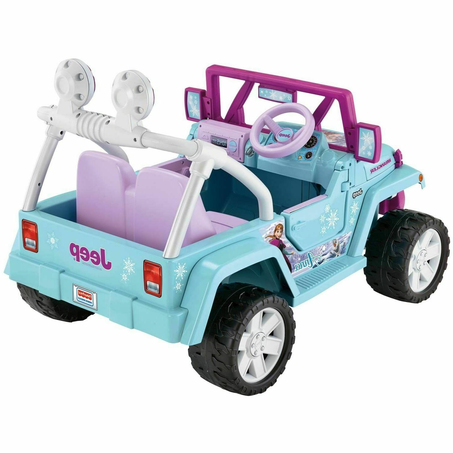 Power Battery-Powered Ride-On Play Frozen Jeep Wrangler 12-Volt