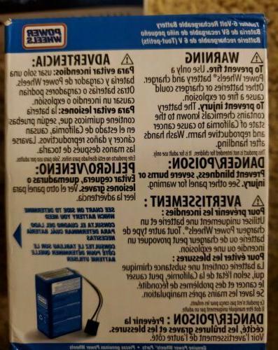 power wheels blue battery 6v toddler 00801