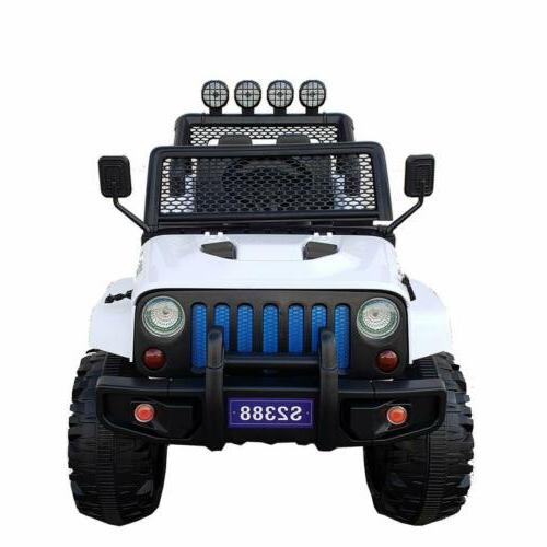 Kids Jeep Ride On 12V Wheels Remote Control MP3 LED