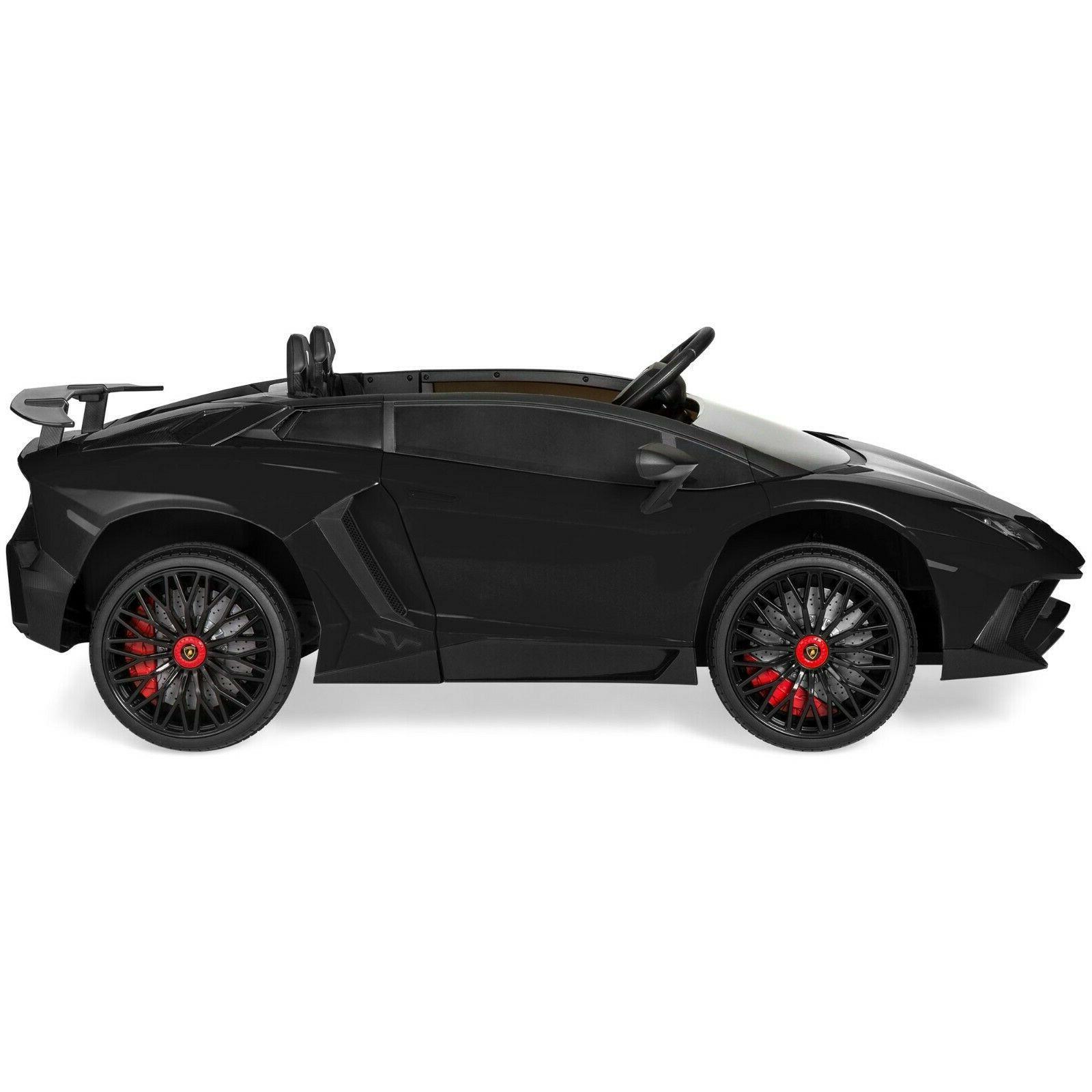 Power Wheels Boys 12V Kids Lambo Car Rideable Remote RC