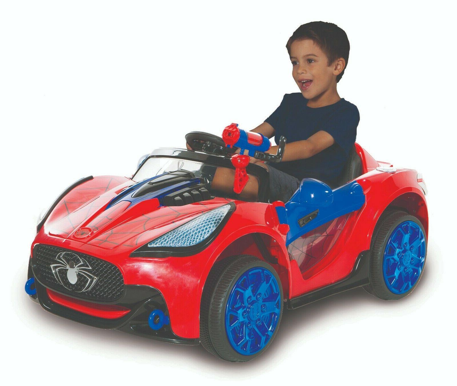 Power Wheels For Boys 6V Ride On Toys Spider Man Super Car M