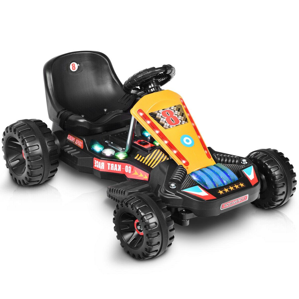 Power Wheels For Boys Rideable Go Cart Kart Electric Buggy K