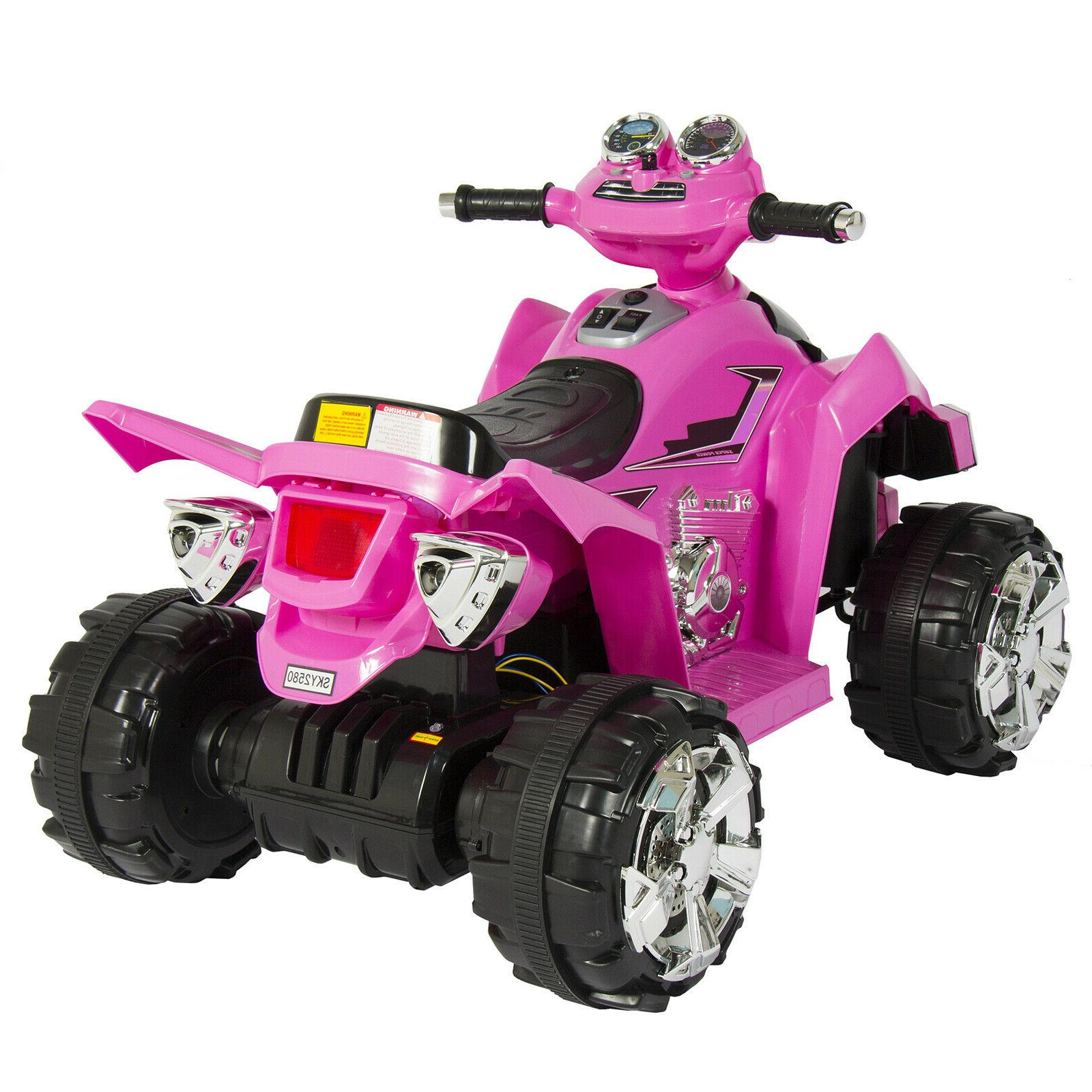 Power Girls 12V Kids Battery Electric 4-Wheeler ATV Pink