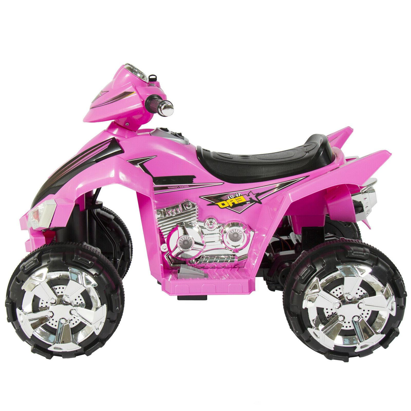 Power 12V Electric ATV Pink