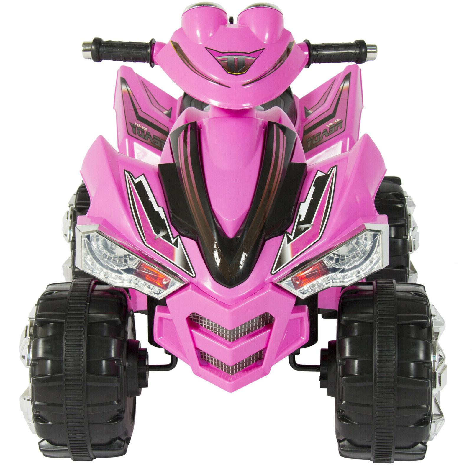 Power Wheels For 12V Kids Electric ATV Pink