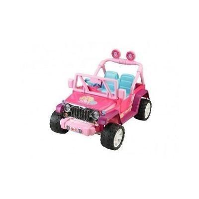 POWER WHEELS JEEP Wrangler Battery ON Kid Baby Pink