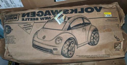 power wheels new beetle yellow new