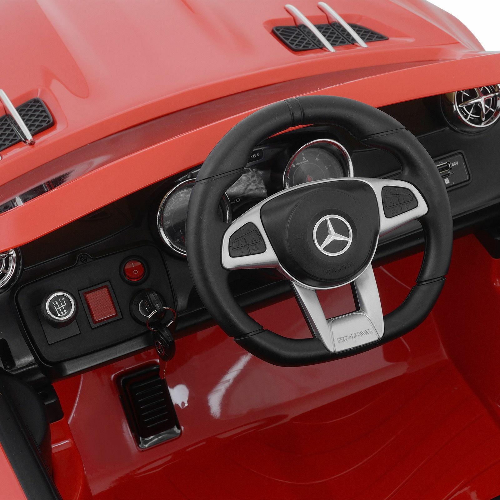 Kids Benz Ride On 12V Red Power Wheels Control MP3