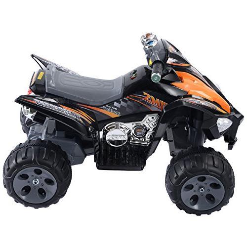 Giantex ATV Quad 4 Wheeler Electric Battery Black