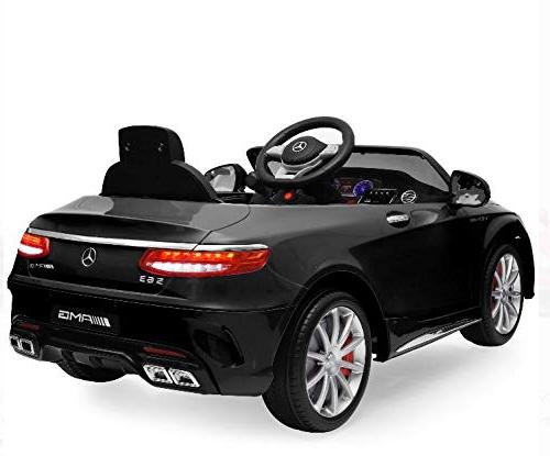 Best Choice Products 12V Kids Coupe w/ Parent Speeds - Black